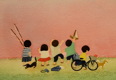 愛らしい子どもたちの声が聞こえてくる。